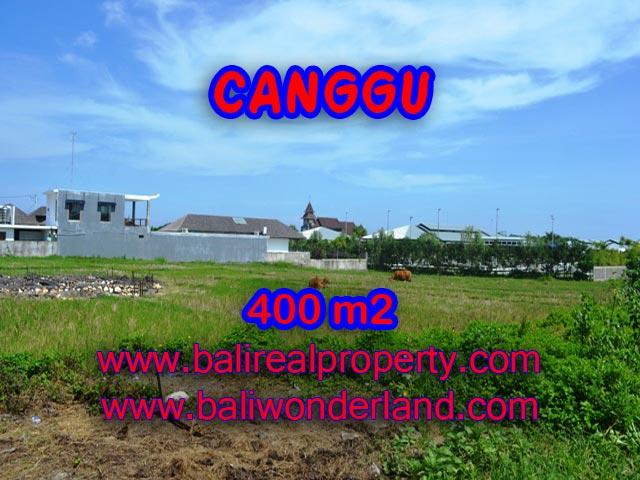 Tanah dijual di Bali 400 m2 view sawah di Canggu Brawa